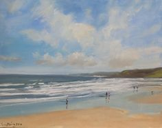 Buy Scarborough  Beach, Oil painting by Malcolm Ludvigsen on Artfinder. Discover thousands of other original paintings, prints, sculptures and photography from independent artists.