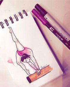 """Mi piace"": 239, commenti: 8 - Francesca Ganassi ☮ (@francisg__) su Instagram: "" #gym #gymnast #gymnastic #pink #beam #love #colors #sketching #igers #ios #follow #sketching #art…"""