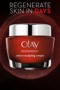 Reveal younger looking skin starting today. Regenerist Micro-Sculpting Cream, formulated with a Skin Energizing Complex, helps accelerates skin turnover. Not only will surface skin cells behave 10 years younger, it can help retain those youthful surface contours. Discover the key anti-aging ingredients inside Olay Regenerist and turn back time.