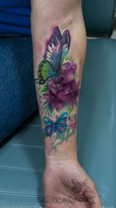 watercolor dragonfly tattoo | Similar Galleries: Watercolor Angel Wings Tattoo , Watercolor Tattoo ,