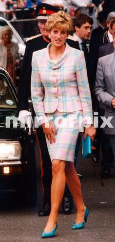 August 5 1992 Princess Diana, during her visit to Newcastle Upon Tyne, North East England. Here the Princess arrives at Barnados, Jesmond, Newcastle Upon Tyne.