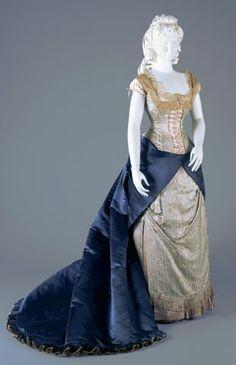 evening dress ca. 1877-1878 via The Cincinnati Art Museum