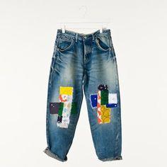 mina perhonen jeans ミナペルホネンのジーンズ