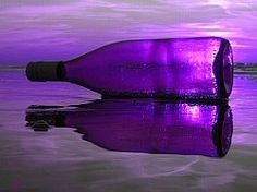 purple beach bottle, three of my favorite things.purple, beach, and glass bottles in rich colors Purple Love, Purple Beach, Purple Glass, All Things Purple, Purple Stuff, Purple Swag, Purple Sunset, Purple Colors, Magenta