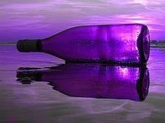 purple beach bottle