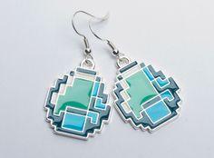 J!NX : Minecraft Diamond Earrings