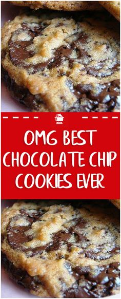 OMG Best Chocolate chip cookies EVER - Burger/ Sandwiches/ Wraps/ etc. Make Chocolate Chip Cookies, Chocolate Cookie Recipes, Chocolate Chip Deserts, Good Cookie Recipes, Semi Sweet Chocolate Chips, Recipes With Chocolate Chips, Home Made Cookies Recipe, Chocolate Chip Biscuits, Chocolate Christmas Cookies
