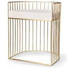 Metal Caged Accent Stool - Gold - Nate Berkus™ : Target