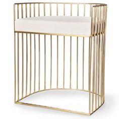 Metal Caged Accent Stool - Gold - Nate Berkus™ : Target