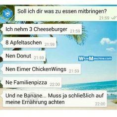 Lustige WhatsApp Bilder und Chat Fails 223 - Gesundes Essen