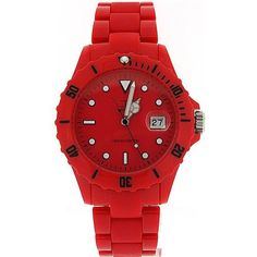 Unisex LTD Adult Analogue Red Plastic Strap Watch - Limited Edition $58.95