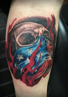 olio.tattoo Skull Tattoo by Eric from Engine House Tattoo - Germantown, OH #skull -- More at: https://olio.tattoo/tattoo-images/mentions:skull