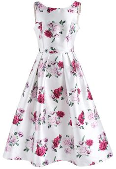 Rose Sweetener Printed Prom Dress - New Arrivals - Retro, Indie and Unique Fashion