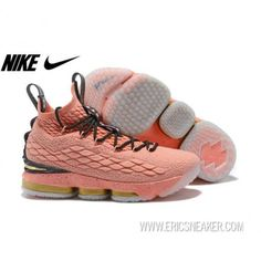 "dcce5190bfa1 NIKELEBRON 15 All Star 2018 ""Rust Pink"" 897650-600 Rust Pink Metallic  Gold-Black Basketball shoes"