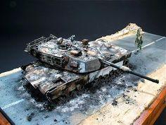 """Low Bridge Ahead"" 1/35 scale.  By Per Olav Lund. #scale_modell #tank #diorama"