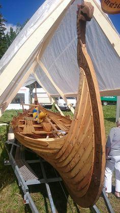 """Small version of the Oseberg ship replica called """"Svea"""""""