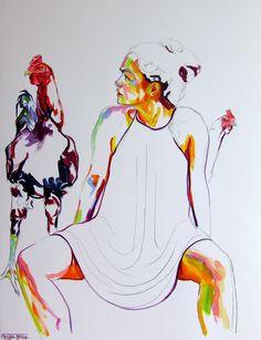 Cristina Troufa - Contemporary Artist - Figurative Painting - Galo #4 - 2014