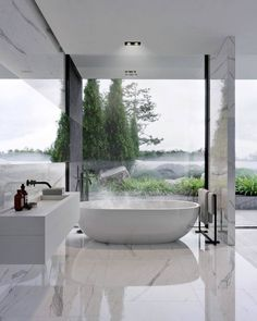 Luxury Bathroom Master Baths Dreams is unquestionably important for your home. Whether you choose the Interior Design Ideas Bathroom or Luxury Master Bathroom Ideas, you will make the best Luxury Bathroom Master Baths With Fireplace for your own life. Bad Inspiration, Bathroom Inspiration, Interior Design Inspiration, Design Ideas, Modern Bathroom Design, Bathroom Interior Design, Decor Interior Design, Bathroom Designs, Modern Design