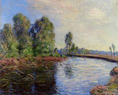 Banks of the Loing by Alfred Sisley   Medium: oil on canvas