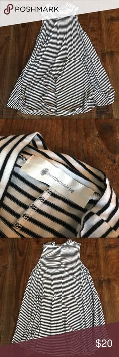 Striped Dress size medium-large never worn, no stains or discolorations the impeccable pig Dresses Midi