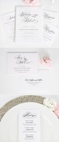 Southern script wedding invitations. #shineweddinginvitations http://www.shineweddinginvitations.com/wedding-invitations/southern-script-wedding-invitations
