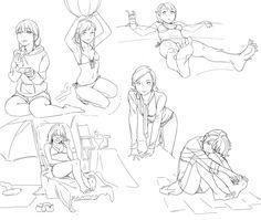 female beach poses references manga - Desenho de mulheres em mangá e anime na praia - Anime Poses Reference, Figure Drawing Reference, Sketch Poses, Drawing Poses, Female Drawing, Manga Drawing, Drawing Art, Character Poses, Character Art