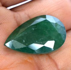 Natural Emerald Pear Cut 27x17 mm 26.15 Cts Certified Dark Green Shade Loose Gemstone Natural Emerald, Rings For Men, Trending Outfits, Unique Jewelry, Handmade Gifts, Loose Gemstones, Pear, Vintage, Etsy