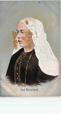 Early Oud Beierland The Netherlands Foreign Postcard Folk Costume Jewelry QQ762 | eBay #ZuidHolland