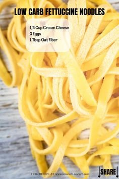 Learn How To Make Quick and Easy Low Carb Fettuccine Noodles made with Oat Fiber that gives you the perfect blend of the smooth and flavorful Keto Pasta Recipe you have ever dreamed of. With only 3 Ingredients and choices o 2 different ways to make those Best Ever Homemade Keto Noodles that are fully Gluten-Free as well as Grain-Free, there is no need to ever miss your Italian Pasta Evening.