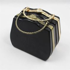 Blue Stones Square 18cm Gold and Silver Round Handle Metal Purse Frame Kiss Lock Bag Accessories
