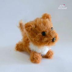 Dog Amigurumi Pattern Brush Crochet
