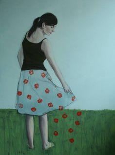 Skirt of flowers.