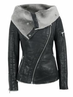 World of Women Fashion: Amazing Leather Black Jacket for Fall and Winter