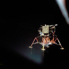 - Módulo Lunar da Apollo 11 é fotografado enquanto pousava na Lua pelo astronauta Collins, que estava no módulo de comando, conhecido como Colúmbia Apollo Space Program, Nasa Space Program, Moon Missions, Apollo Missions, Apollo 11 Moon Landing, American Space, Space Race, Man On The Moon, Space Images