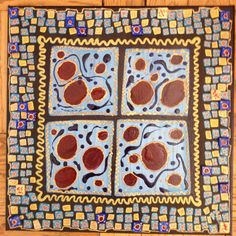 I added tiles that I made myself to this one. Along with that,In my art I use...Gel Xtreme pens,Slicci pens, Pēbēo paints, Modge Podge/Plaid products, Ranger products, Letraset Metallic markers, Molotow markers, Oil Based Sharpies, Uni-Ball pens. Golden products, Blick products...and sometimes screens, fabrics, and whatever I find around the house.