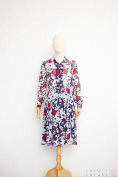219da24bf65 Vintage 70s Dress Sheer Cotton Gauze Dress Japanese
