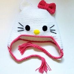 Made to Order  Kitty Hat Hello Kitty Beanie by TheeBottomShop, $25.00