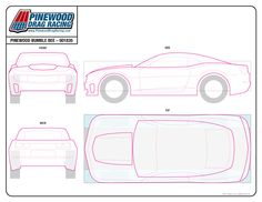 Template For A Transformers Bumblebee 2014 Camaro Pinewood Derby
