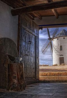 photo by Jesus Sánchez,  Campo de Criptana,Castille la Mancha,ES.  Donde esta Don Quixote?