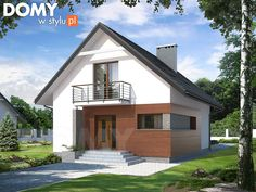 Lilia mały nowoczesny i energooszczędny dom - Jesteśmy AUTOREM - DOMY w Stylu Style At Home, Roof Lines, Gable Roof, House Rooms, Home Fashion, Bungalow, Exterior Design, Shed, Interior Inspiration