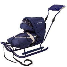 Vehicule pentru copii :: Saniute copii :: Saniute bebelusi :: Saniuta Piccolino DeLux cu Saculet Albastru Adbor