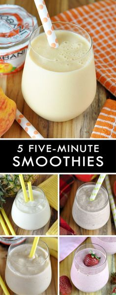 These five easy and delicious smoothies are healthier even though they taste like dessert!