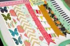 dear lizzy patterned paper strips