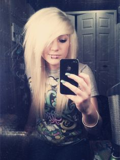 "Pretty Blonde ""Scene"" Hair"