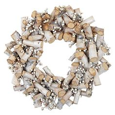 Buy John Lewis Croft Collection Frosted Birch Wreath Online at johnlewis.com