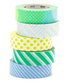 MT Five-Piece Cool Hues Washi Tape
