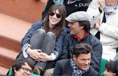 Charlotte et Yvan à Roland Garros 2013 #charlottegainsbourg #yvanattal #rolandgarros