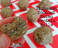 Cinnamon Coconut Paleo Protein Balls #paleo #grainfree #protein