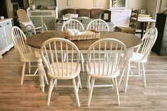 Oval Farmhouse Dining set (6 chairs)