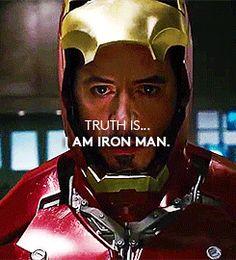 "innamoratadiunsognoo: ""Truth is … I AM IRON MAN "" it's a iron man's day!!!"